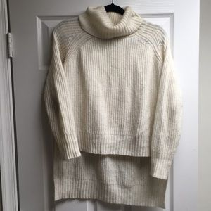 High-low Cowl Neck Sweater